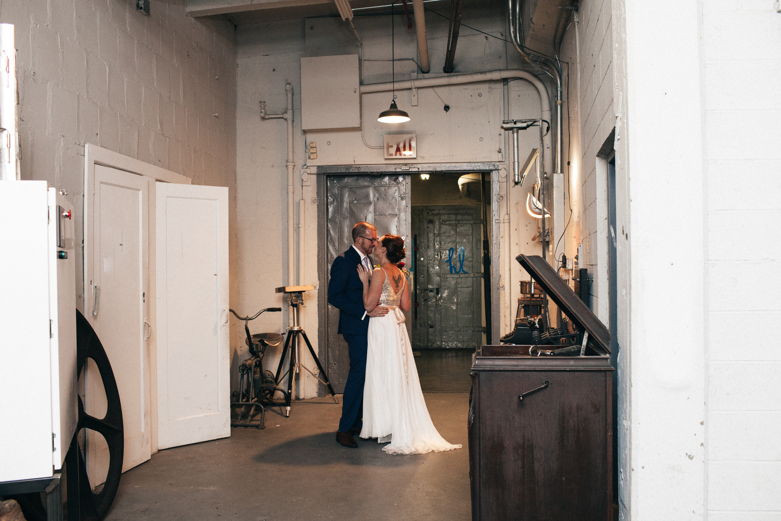 industry city distillery brooklyn wedding
